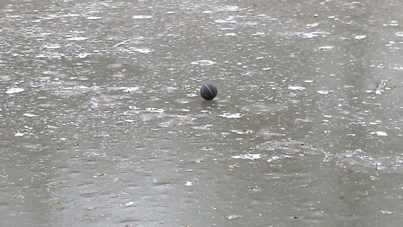 Ball on ice