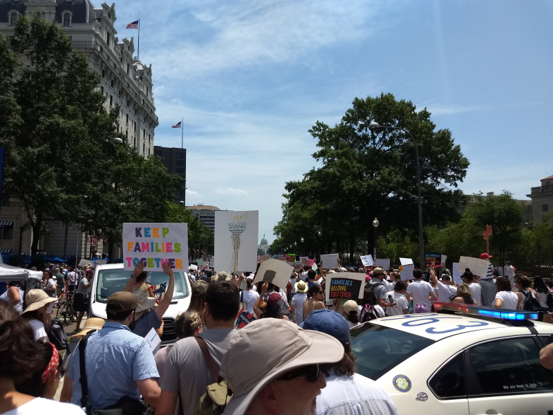 Marching to DOJ and Capital 30 June 2018