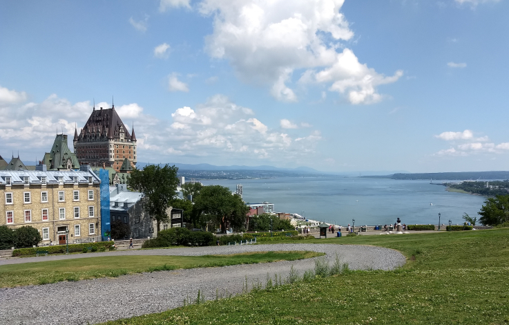 St Lawrence River and Quebec City